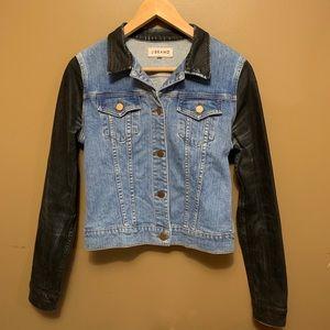 J Brand Jean Jacket Coated Black Denim